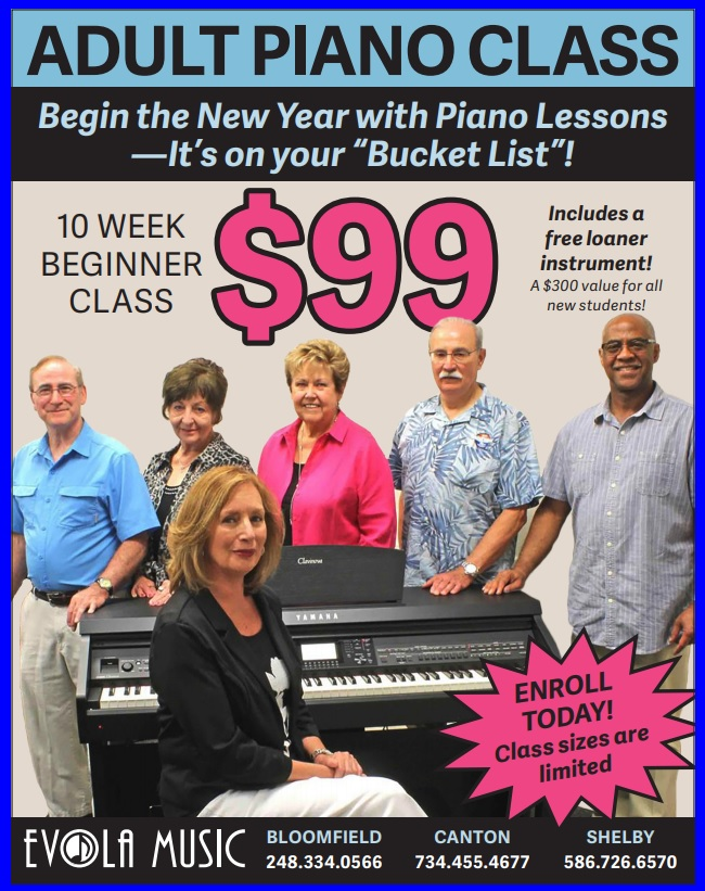 Promotions and Deals on Pianos and Organs in Michigan - Evola Music - Adult2021_January