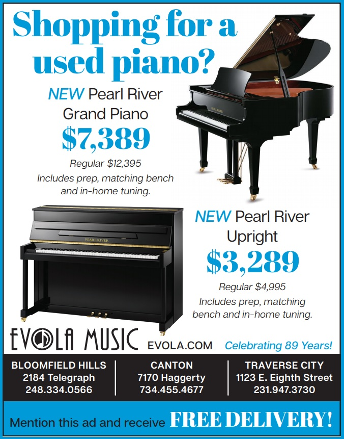 Promotions and Deals on Pianos and Organs in Michigan - Evola Music - ShopUsed2021a