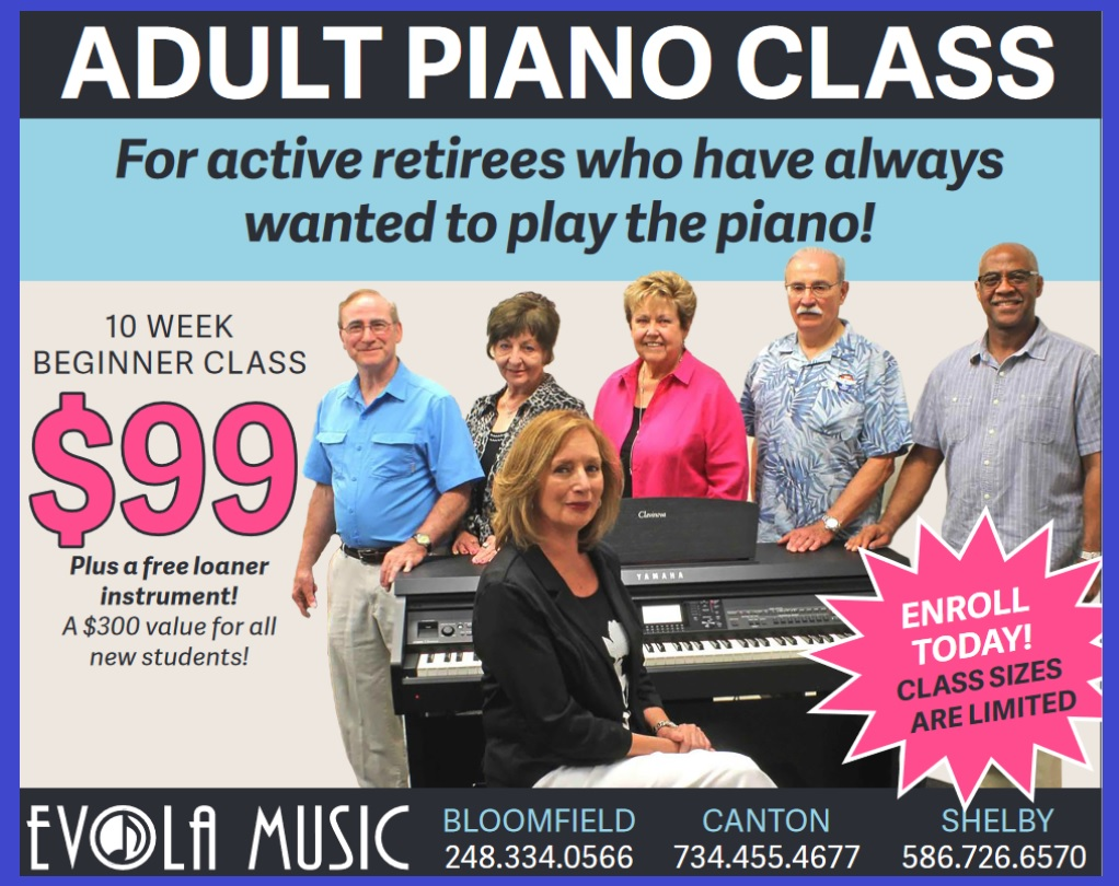 Promotions and Deals on Pianos and Organs in Michigan - Evola Music - blueborder
